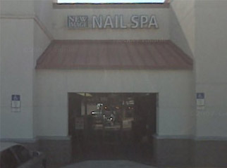 Nail salon entrance
